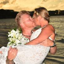 To celebrate our 20th wedding anniversary, we renewed our vows on the beach in Negril, Jamaica,