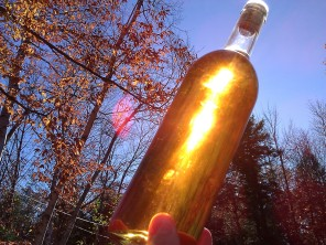 The golden color of our latest batch. It tastes even better than it looks!